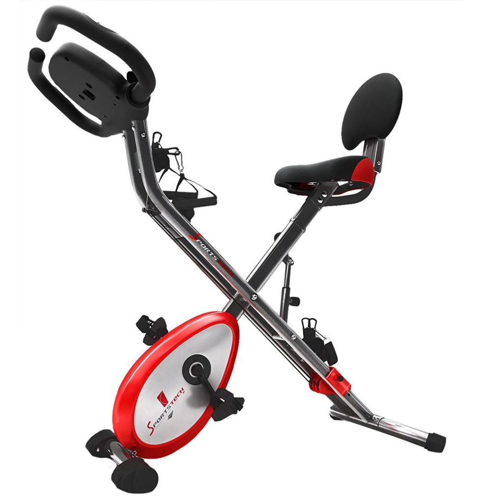 vista lateral Sportstech Plegable F-Bike x100 B